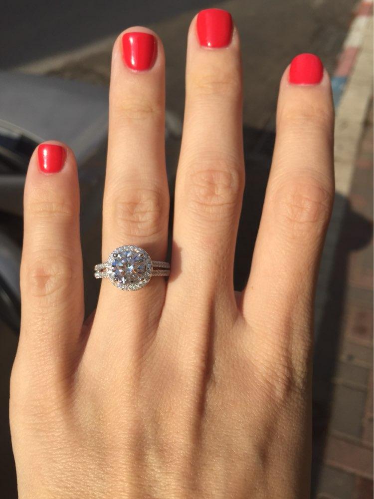 2018 bizhuteri e re fasade e unazës së vërtetë argjendi 925 të - Bizhuteri të modës - Foto 5