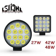 LSlight Work Light 27W 42W 48W Faros 4x4 Accessories Offroad LED Bar 12V Worklight Off Road Barra Lamp For UAZ JeeP