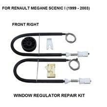 Оконный регулятор полный клип набор RENAULT MEGANE SCENIC I оконный регулятор Ремонтный комплект правая передняя сторона