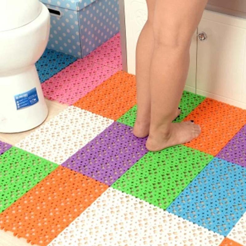 Nonslip Carpet Bath Mat Sucker Bathroom Toilet Floor Mat