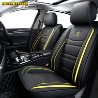 NEW Luxury leather car seat cover For mercedes benz w124 w123 w211 w214 w204 w245 gle glc glk cls a b c e class car seats style