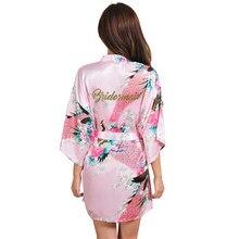 c1a11009f641 Невесты халаты пижамы халат свадебные туфли невесты халаты Пижама Халат  одежда для сна Женская халат рубашка