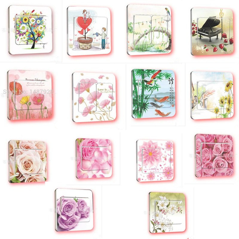 Cheap Clearance 10 Pcs Lot Home Room Decoration Wall Sticker Creative Rose Pattern Decoration Wall