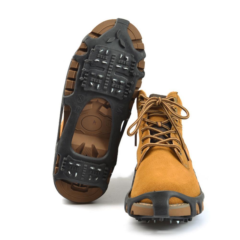 24 Studs Anti-skid Klettern Schnee Eis Greifer Schuhe Spikes Stollen Grips Steigeisen Venta Caliente шипы для обувиventa Heißer verkauf