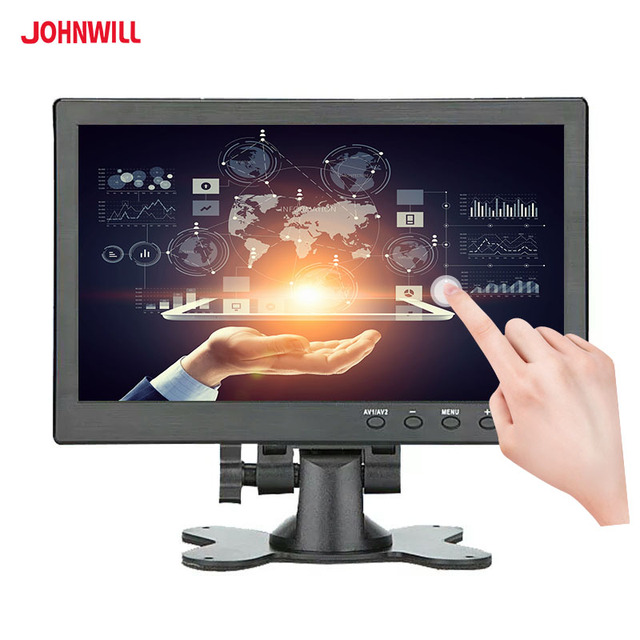 """10.1 """"IPS מסך מגע 1920x1200 HDMI VGA/AV USB דיסק און קי קיבולי LCD צג תעשייתי רכב משחק"""