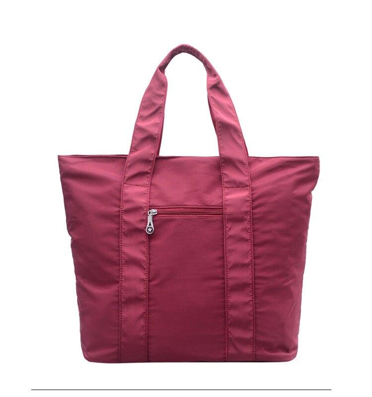 Big Capacity Women Handbag Female Nylon Cloth Shopping Bags Large Book Bolsas Bolsos Pure Color Simple