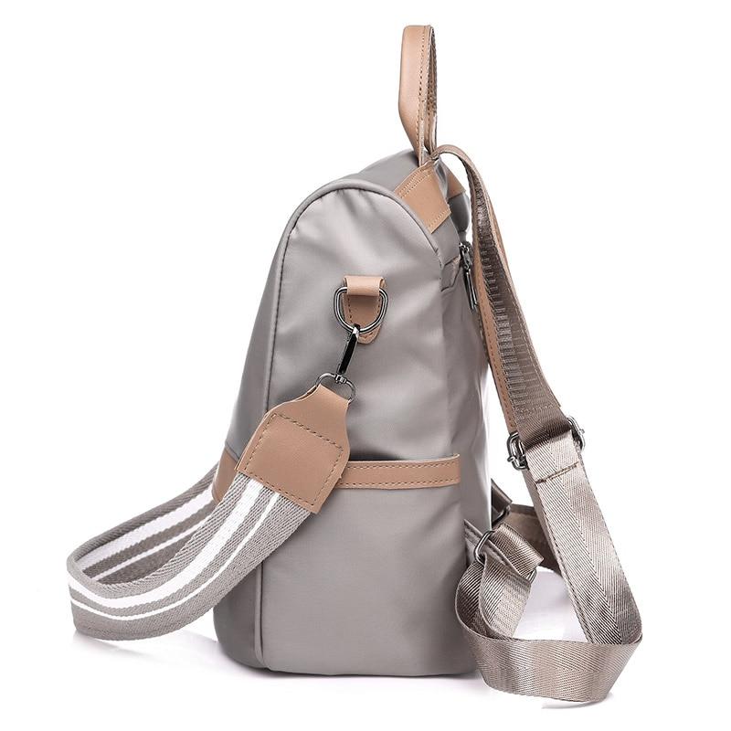 Womens Backpack Fashion College Wind Waterproof Nylon Simple Capacity Large Durable Practical Multifunctional Female bag PUBGS