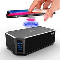 Qi Charger Boombox Mini Hifi Micro System Alarm Clock Radio Bluetooth Music Box Multimedia 2.0 Mp3 Aux Fm Led Touch Speaker