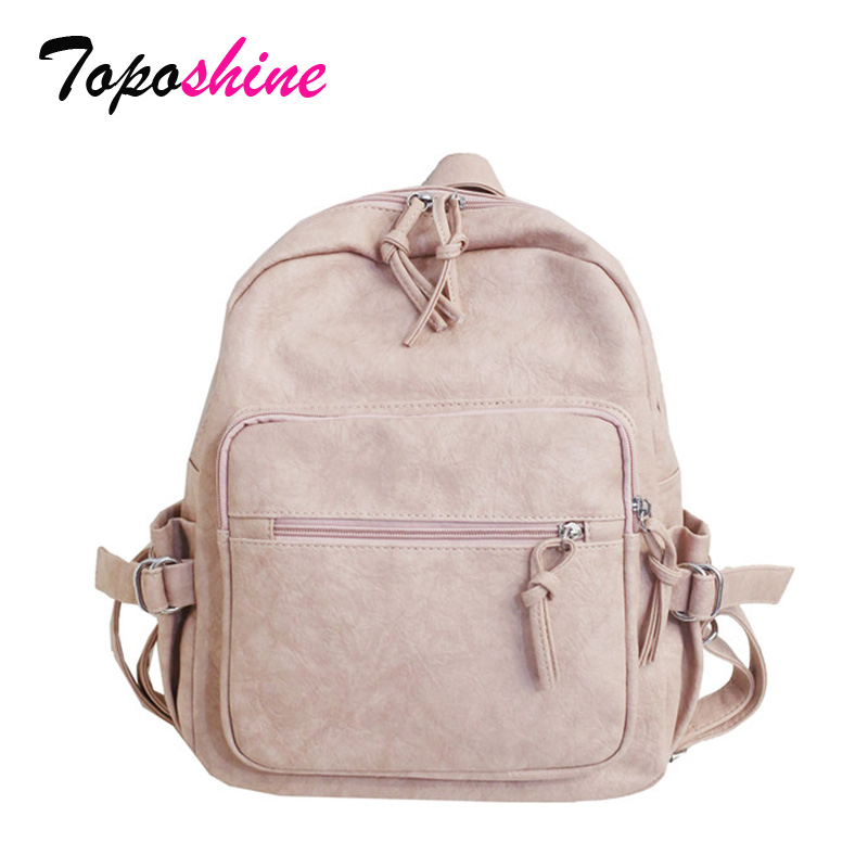 Toposhine Women's Backpack Student-Bag Personality New-Fashion Wild High-Quality Casual