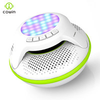 Cowin Swimmer IPX7 Waterproof Portable Bluetooth Speaker Mini Wireless Shower Subwoofer Stereo Light LED loudspeake For Phone