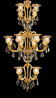 Free Shipping Bronze Chandelier Light Decora Copper Lustres D90cm H160cm Lampara de techo Hotel Lobby Home Staircase Lighting