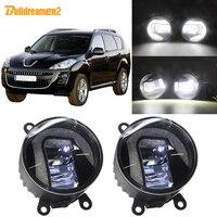 Buildreamen2 Car Accessories LED Projector Fog Light + Daytime Running Lamp H11 12V For 2007 2013 Peugeot 4007 GP_