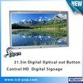 21 дюймов full hd led монитор открытой рамки настраиваемые кнопки функция digital signage-плеер жк-экран рекламы