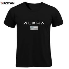 T-shirts Mannen/Vrouwen Zomer Tops Tees Print Mannen Losse O-hals Korte Mouwen Fashion Casual T-shirts Plus Size ALPHA Shirt mannen(China)