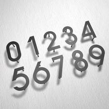 Arte del hierro placa moderna número casa puerta del Hotel dirección dígitos placa letrero de Metal 0 9