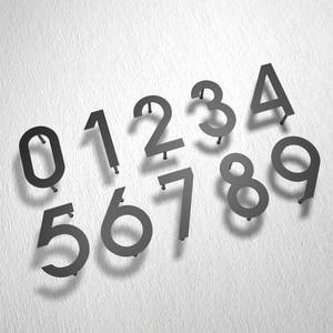 Image 1 - Iron art Modern Plaque Number House Hotel Door Address Digits Metal Plate Sign 0 9