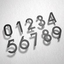 Żelazna sztuka nowoczesna tablica numer dom drzwi hotelowe adres cyfry metalowa płytka znak 0 9