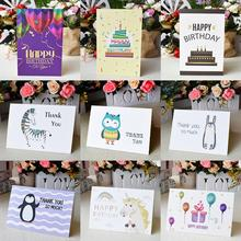 Изготовленный На Заказ спасибо карты оптом Открытка ко дню рождения для детей карточки для заметок с Конверты Приглашения пустой внутри открытки на день рождения 6x4 карты