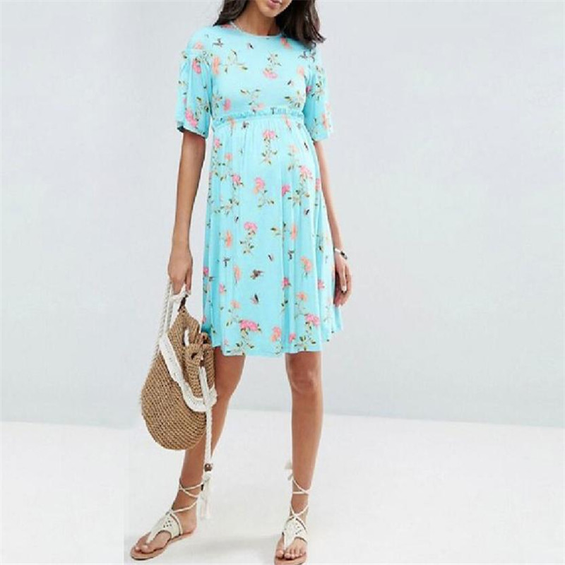 wholesale drop shipping Womens Mother Casual Floral Pregnants Dress For Maternity Clothes Fashion S3JUN11