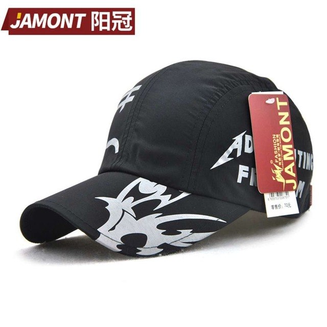 JAMONT Outdoor Summer Quick Drying Men Women Baseball Cap Korean Style  Solid Color Printed Unisex Sun 654c616536