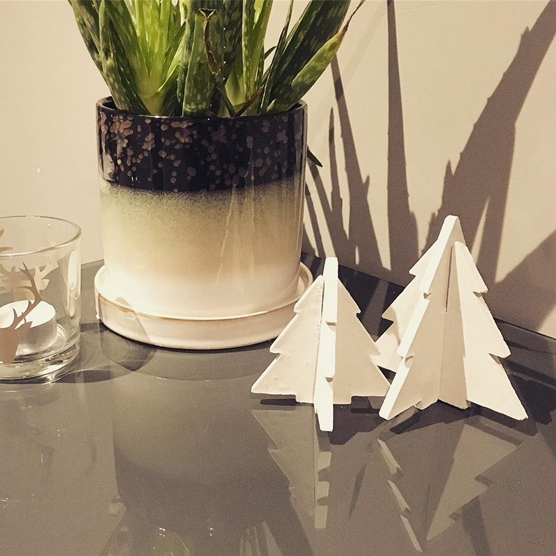 Christmas Tree Design Concrete Furnishing Silicon Mold Home Decoration Cement Furnishing Mold Plaster Crafts Gifts Mold