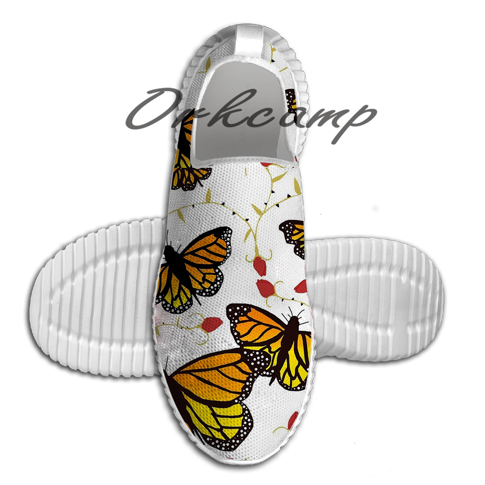 Butterflies and Roses Light Weight fashion Sports Running Shoes Walking Shoes Summer Comfortable Yuga shoes