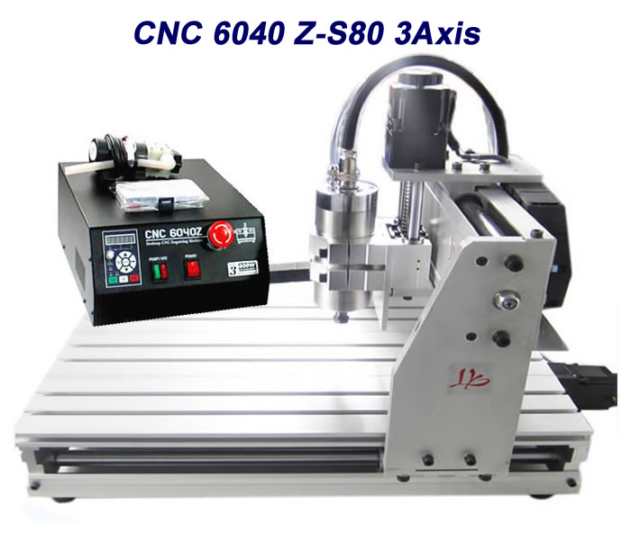 CNC Router machine 6040Z-S80 wood mini lathe for plastic milling cnc 5axis a aixs rotary axis t chuck type for cnc router cnc milling machine best quality