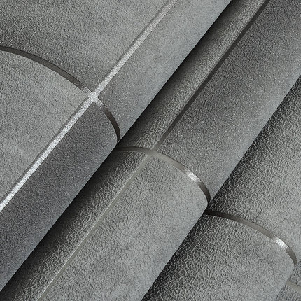 Купить с кэшбэком Modern Industrial Style Wallpaper Gray Imitation Tile Non-woven Living Room Bedroom TV Backdrop Wall Paper Roll