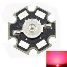 Freeshipping!10PCS 1W Deep Red High Power 660NM Plant Grow LED Emitter Light for Cabinet/Tank/Aquarium