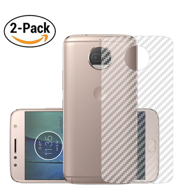2PACK Matte Protective Guard For Motorola G5s G5 Plus G4 Play X4 Moto C E4 Plus Screen Protector 3D Rear Carbon Fiber Back Film image