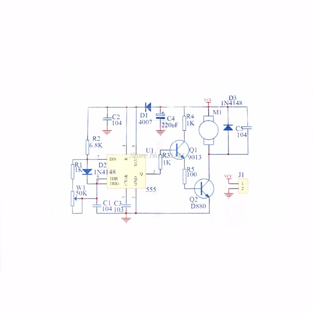 5 12v Diy Kit 555 Pulse Width Modulation Speed Regulator Controller Schematic Suite Module In Integrated Circuits From Electronic Components Supplies On