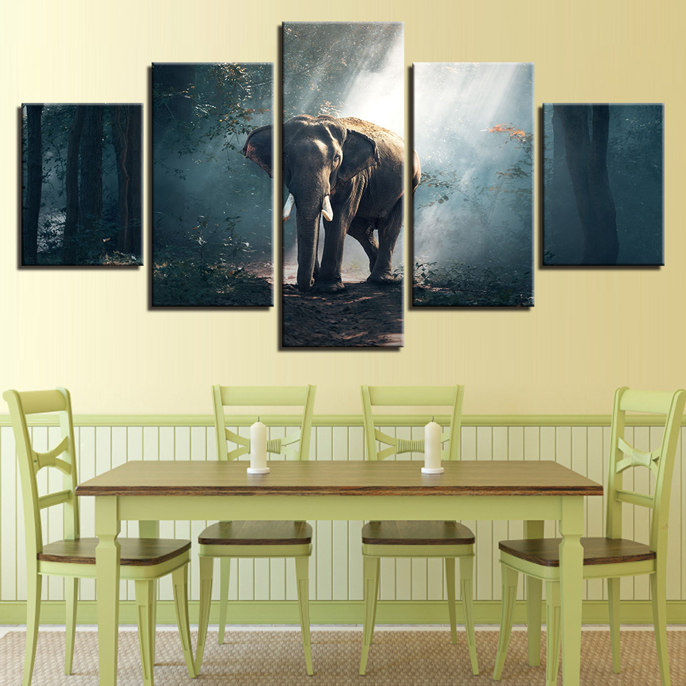 Canvas HD Prints Pictures Living Room Wall Art Framework 5 Pieces ...