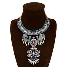 Модный кристалл, эффектное ожерелье для женщин, колье из горного хрусталя, ожерелье, женские ожерелья и кулоны, ювелирные изделия
