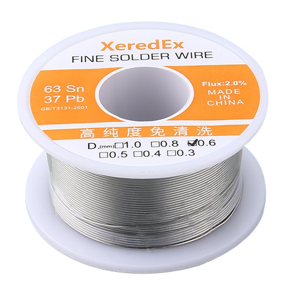 0 6mm 2 Flux Tin Lead Rosin Roll Core Silver Solder Wire Welding Soldering Repair Tool Reel Melt Kit 63 Sn in Welding Wires from Tools