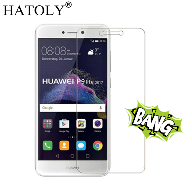 Galleria fotografica 2PCS Tempered Glass Huawei P9 Lite 2017 Ultra-thin Screen Protector for Huawei P9 Lite 2017 Glass Huawei P9lite 2017 Film HATOLY