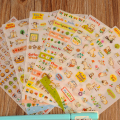 New Cute Lovely 6 Sheet Cat Paper Stickers for Diary Scrapbook Book Wall Photo Decor Skin DIY Cartoon