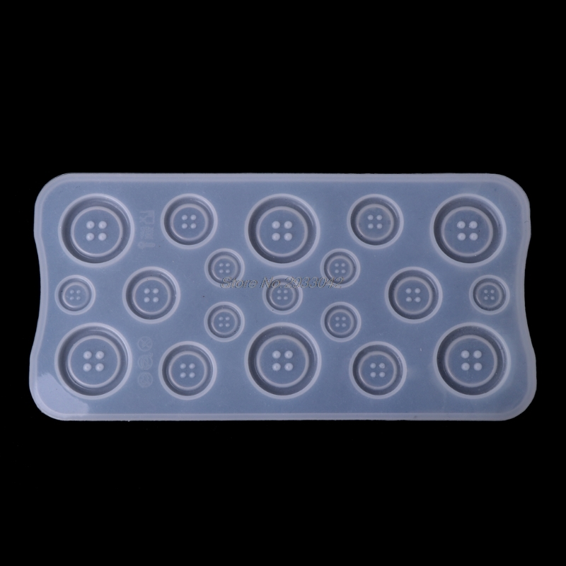 DIY Button Clear Silicone Mold Making Jewelry Casting Epoxy Mould Craft Tool New -W128