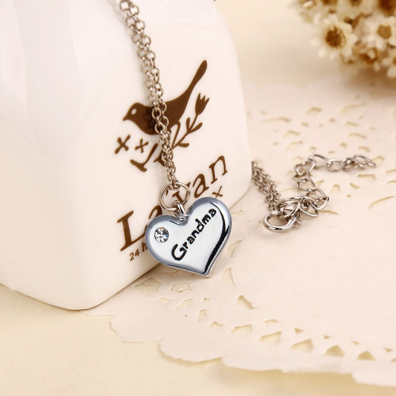 1 pcs fashion attractive jewelry gift grandma heart cool pendant 1 pcs fashion attractive jewelry gift grandma heart cool pendant necklace for woman colgantes mujer moda in pendant necklaces from jewelry accessories on aloadofball Image collections