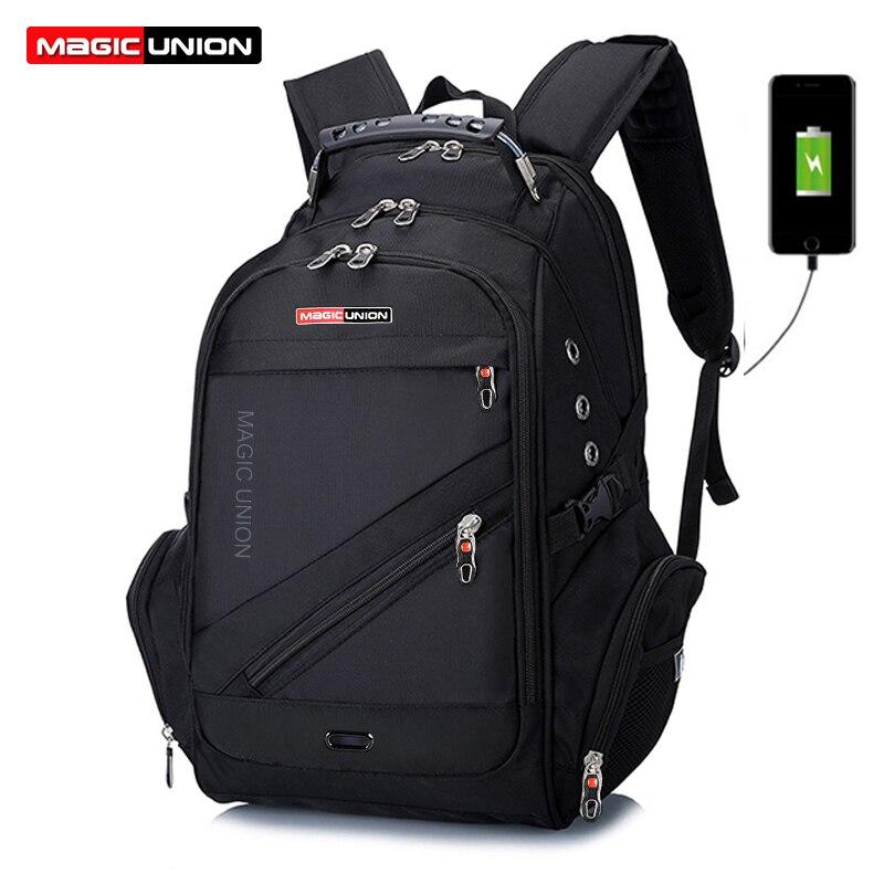 Swiss Backpack Travel-Bag Magic Union Design Waterproof Men's Polyester-Bags Man Brand