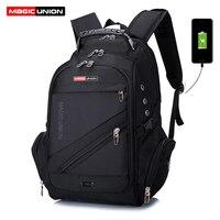 MAGIC UNION Brand Design Men S Travel Bag Man Swiss Backpack Polyester Bags Waterproof Anti Theft