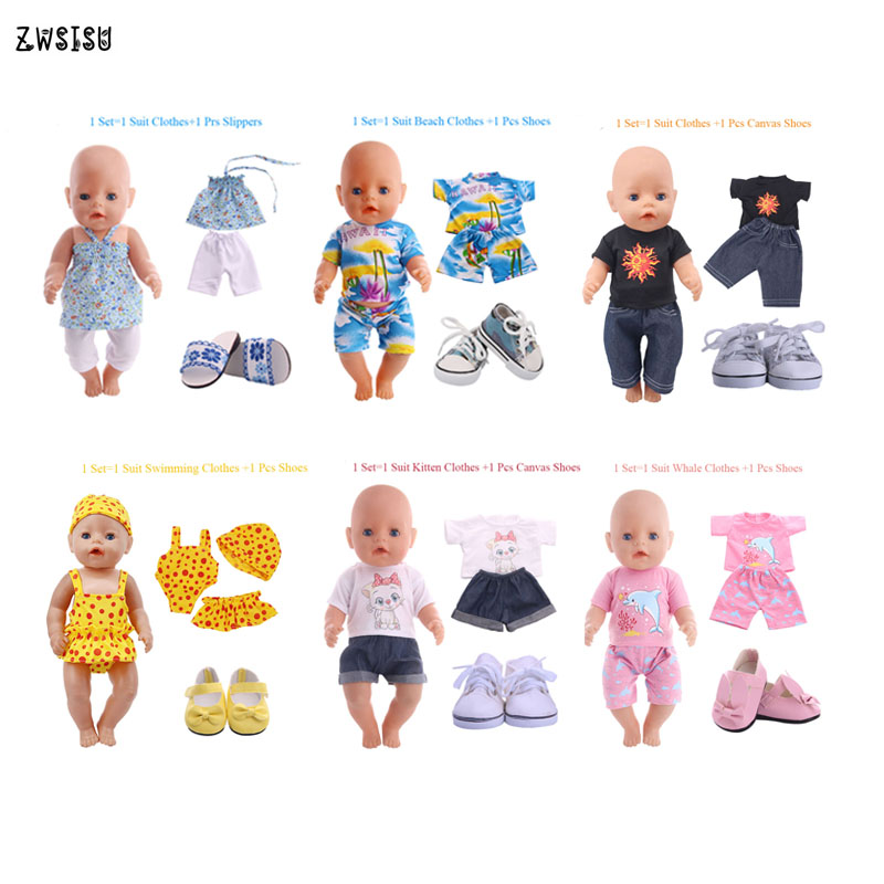 7 style Doll Clothes Sets Suit  for 11 inch Reborn Baby Dolls Doll Accessories