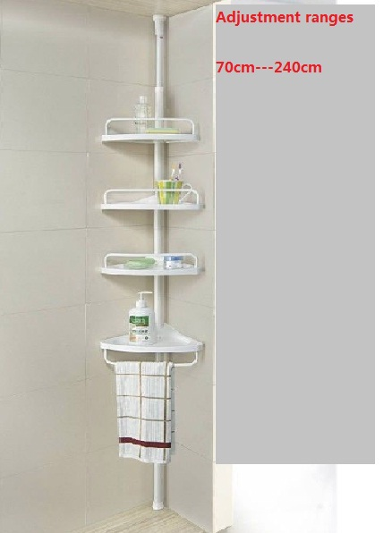 Adjule Tension Shower Caddy 4 Layer Rack Powder Coated Steel Pvc Poly Resin In Bathroom Accessories Sets From Home Garden On Aliexpress Com