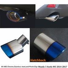 Per Mazda 3 Axela M3 2014 2015 2016 2017 copertura del silenziatore esterno end tubo di scarico dedicare in acciaio inox di scarico punta coda di 1 pcs