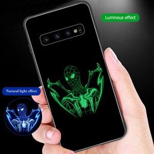 Image 1 - Ciciber Für Samsung Galaxy S10e S10 S9 S8 Plus S10 + S9 + S8 + Telefon Fällen für Samsung Note 9 8 gehärtetem Glas Abdeckung Spider Mann