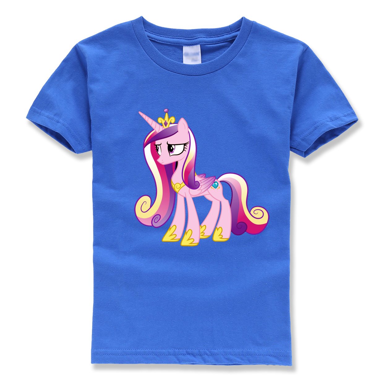 unicorn printing pink tops brand homme casual t shirts kids horse t shirts streetwear summer 2018 new style color boys girls top new style 468 colors carousel screen printing machine for t shirts