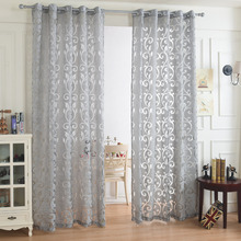 Tulle Curtain 3d Cut Flower Curtains For Living Room Partition Furniture Decoration Pure Curtains Embroidered kitchen Curtains
