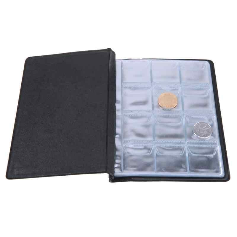 120 bolsillos álbum para la colección de monedas libro inicio álbum de fotos de decoración álbum de monedas de PVC soportes colección libro álbum de recortes