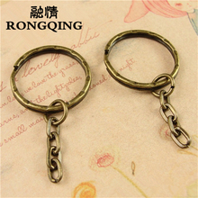 RONGQING Diy Accessories 10pcs Keyring Split Ring Good Quality Key Ring For Keychain Making Sleutelhanger round