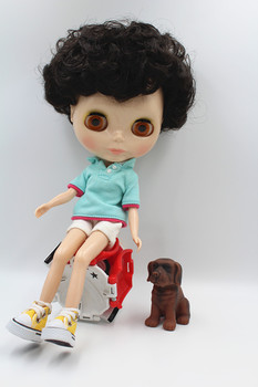 Blygirl doll Blyth doll 30cm, 1/6 black explosion head short hair, street fashion models