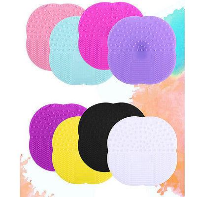 Placa de Limpeza Cosméticos Maquiagem Pincel Limpo Escova de Lavar Tapete de Silicone Pad